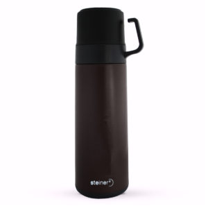 TERMO STEINER DOBLE TAZA COLOR NEGRO 600 ML.